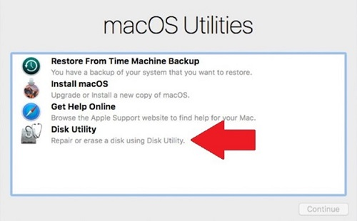 Boot into macOS Recovery