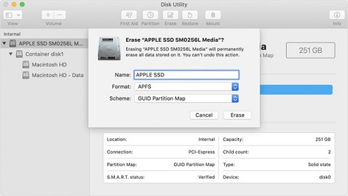 Erase your Mac's drive and reformat your Mac