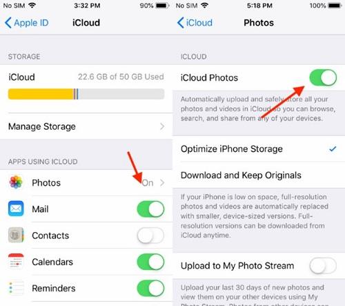 Move Photos from iPhone to Mac via iCloud Photos