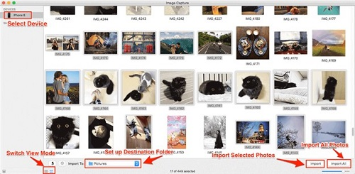 Transfer Photos from iPhone to a Mac via Image Capture