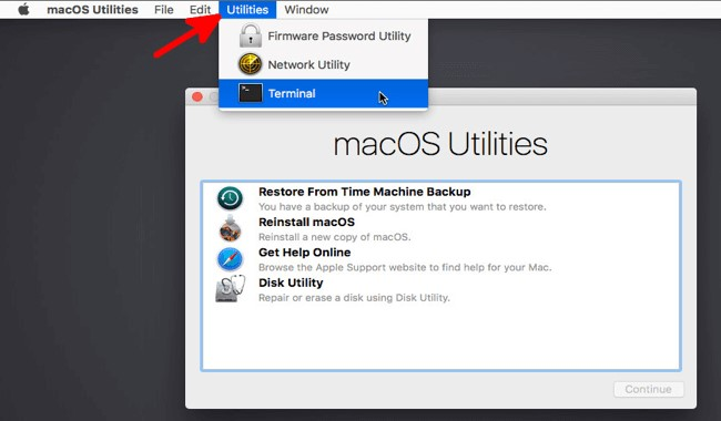 Terminal in Utilities icon