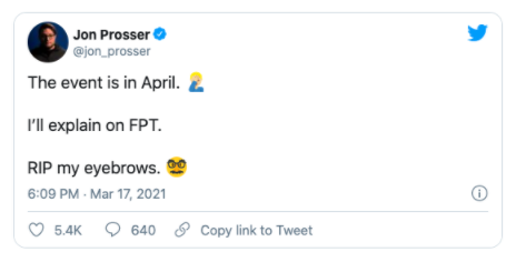 Is the event happening on April instead?